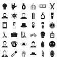 cutting hair icons set simple style vector image