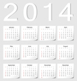 European 2014 calendar vector | Price: 1 Credit (USD $1)