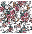 floral seamless pattern with flowers vintage style vector image vector image