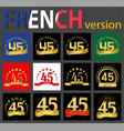 french set of number 45 templates vector image