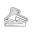 gavel justice isolated icon vector image