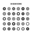 gear wheels set retro vintage cogwheels vector image