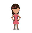 girl with dress vector image