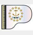 grand piano rhode island flag vector image vector image