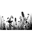 Grass silhouettes background