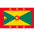 grenadian flag vector image vector image
