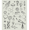 Hand drawn doodles - education science icons vector image