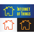 internet of things icon vector image vector image