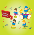 Isometric band performance vector image