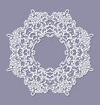 lacy doily frame filligree paper cut out template vector image vector image
