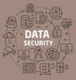 linear data security vector image vector image