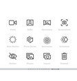 media files icon set camera and vector image
