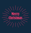 merry christmas postcard with rays of burst vector image vector image