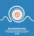 naval mine sign icon Blue and white abstract vector image