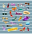 Patch badges with different elements Fashion Set vector image vector image
