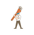 Plumber Carrying Monkey Wrench Cartoon vector image vector image
