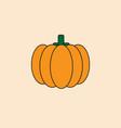 pumpkin icon autumn harvest concept vector image