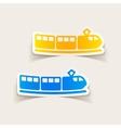 realistic design element train vector image vector image