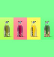 realistic juice bottle 3d packaging for detox vector image