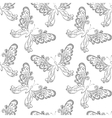 Seamless background butterflies contours vector image vector image