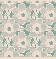 seamless flower lace pattern on blue background vector image vector image
