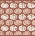 seamless pattern pumpkins white pink brown vector image vector image