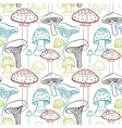 Seamless pattern with different hand drawn vector image vector image