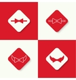 Set icons with bow tie vector image vector image