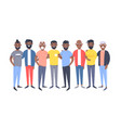 set of a group of different african american men vector image vector image