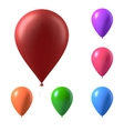 set photorealistic air balloons isolated vector image vector image