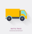 shuttle truck warehouse icons logistic blank vector image