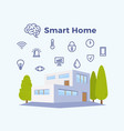 smart home abstract flat vector image vector image
