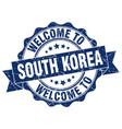 south korea round ribbon seal vector image vector image