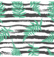 striped fern seamless background vector image vector image