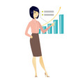 successful business woman pointing at chart vector image vector image
