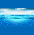 summer banner with swimming pool vector image vector image