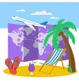 Travel time at summer concept vector image vector image