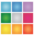 Triangle pattern set vector image vector image