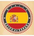 vintage label cards spain flag vector image vector image