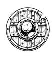warrior wooden shield vector image