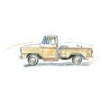 watercolor retro car vector image