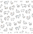 animals farm seamless pattern background vector image