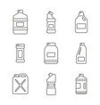 set with bottles with cleaning chemical products vector image