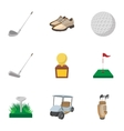Active golf icons set cartoon style vector image vector image