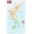 administrative map north and south korea vector image