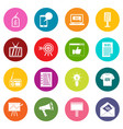 advertisement icons many colors set vector image vector image