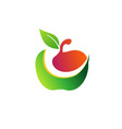 apple fruits smile health logo concept symbol icon vector image vector image