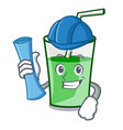 architect green smoothie character cartoon vector image vector image