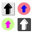 arrow flat icon vector image vector image
