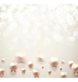 Background with pearls vector image vector image